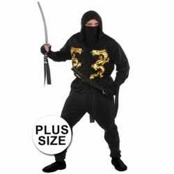 Grote maten ninja carnavalsoutfit kleding mannen