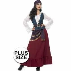 Grote maten piraten carnavalsoutfit kleding dames