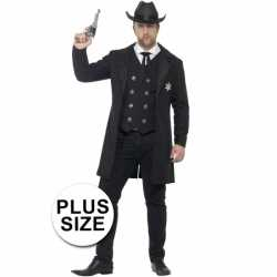 Grote maten sheriff carnavalsoutfit kleding mannen