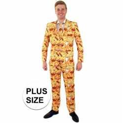 Grote maten snackbar thema kleding mannen carnavalsoutfit