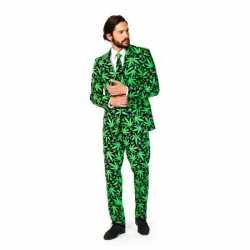 Heren carnavalsoutfit cannabis kleding