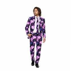 Heren carnavalsoutfit galaxy kleding