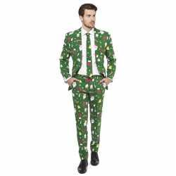 Heren carnavalsoutfit groen kleding