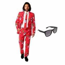 Heren carnavalsoutfit kleding maat 52 (xl) gratis zonnebril