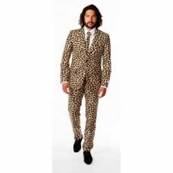 Heren carnavalsoutfit luipaard kleding