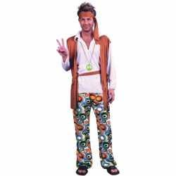 Hippie peace carnavalsoutfit kleding mannen