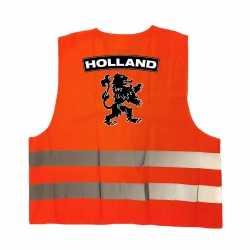 Holland fan hesje zwarte leeuw ek / wk supporter outfit kleding volwassenen