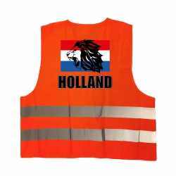 Holland vlag leeuw oranje veiligheidshesje ek / wk supporter outfit kleding volwassenen