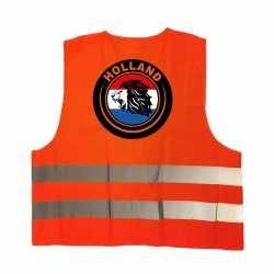 Hollandse leeuw veiligheidshesje oranje ek / wk supporter outfit kleding volwassenen
