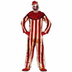 Horror clown billy verkleed carnavalsoutfit rood/wit kleding mannen