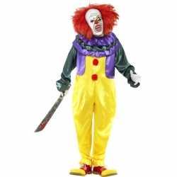 Horror clown carnavalsoutfit masker