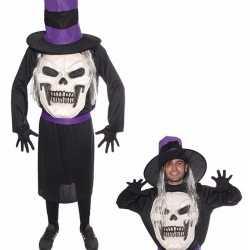 Horror doodskop horror hoed carnavalsoutfit kleding mannen