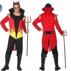 Horror duivel mannen carnavalsoutfit vlammen