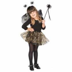 Horror horror carnavalsoutfit heksenset zwarte spin kleding meisjes