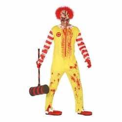 Horror horror clown ronald verkleed carnavalsoutfit kleding mannen