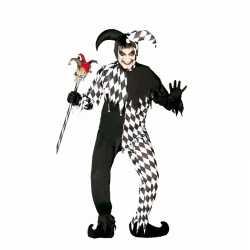 Horror horror harlekijn carnavalsoutfit kleding mannen
