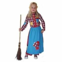 Horror Kleurrijke heksen carnavalsoutfit kleding kinderen