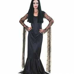 Horror Morticia dames carnavalsoutfit