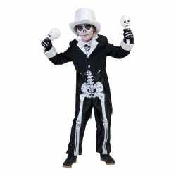 Horror skelet carnavalsoutfit kleding jongens