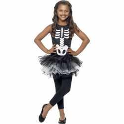 Horror skelet carnavalsoutfit kleding meiden