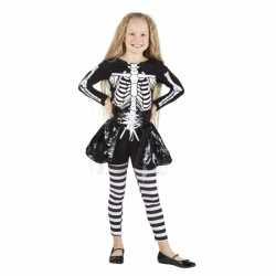 Horror Skelet carnavalsoutfit kleding meisjes