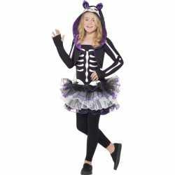 Horror Skelet kat carnavalsoutfit kleding meisjes