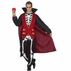 Horror vampier carnavalsoutfit skelet kleding