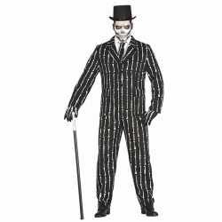 Horror verkleedkleding 3 delig skeletten carnavalsoutfit kleding mann