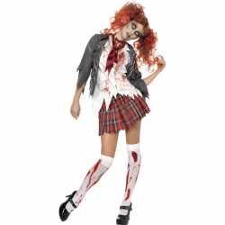 Horror Zombie schoolmeisje carnavalsoutfit