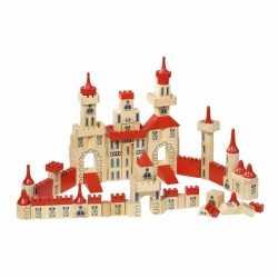Houten bouw kasteel 150-delig
