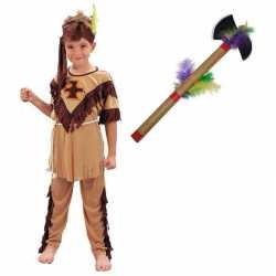 Indianen carnavalsoutfit maat m tomahawk kleding kinderen