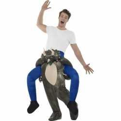 Instap dierenpak carnavalsoutfit dinosaurus kleding volwassenen