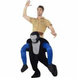 Instap dierenpak carnavalsoutfit gorilla kleding volwassenen
