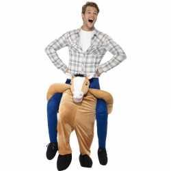 Instap dierenpak carnavalsoutfit paard kleding volwassenen