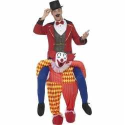 Instapcarnavalsoutfit circus clown kleding volwassenen
