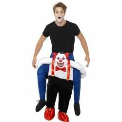 Instapcarnavalsoutfit enge horror clown kleding volwassenen