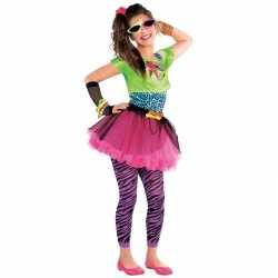 Jaren 80 disco carnavalsoutfit feestkleding kleding meisjes 10 12 jaa
