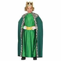 Koning mantel groen verkleedcarnavalsoutfit kleding kinderen