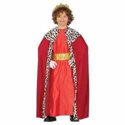 Koning mantel rood verkleedcarnavalsoutfit kleding kinderen
