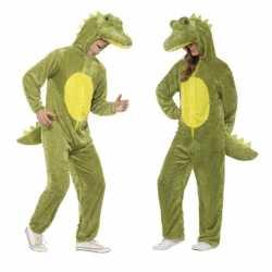 Krokodil onesie carnavalsoutfit kleding volwassenen