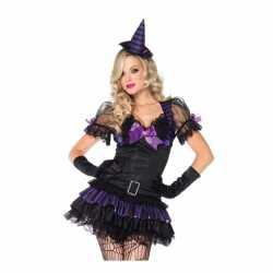 Leg Avenue zwart/paars heksen carnavalsoutfit