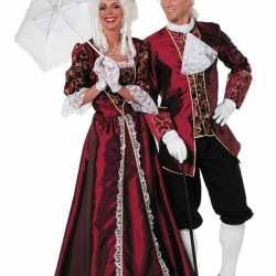 Markiezin carnavalsoutfit bordeaux kleding dames