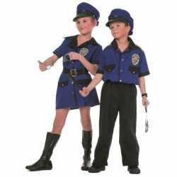 Meisjes politie carnavalsoutfit