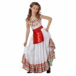 Mexicaans meisje carnavalsoutfit rood schortje