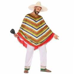 Mexicaans verkleed carnavalsoutfit/poncho kleding mannen