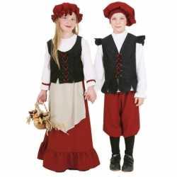 Middeleeuws meisjes carnavalsoutfit