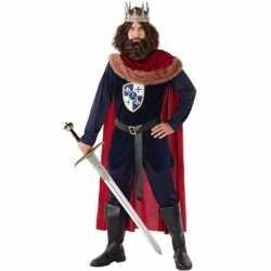 Middeleeuwse koning verkleed carnavalsoutfit kleding mannen