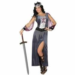 Middeleeuwse koningin victoria verkleed carnavalsoutfit/jurk kleding