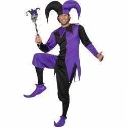 Narrencarnavalsoutfit zwart/paars kleding mannen
