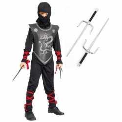 Ninja carnavalsoutfit maat m dolken kleding kinderen